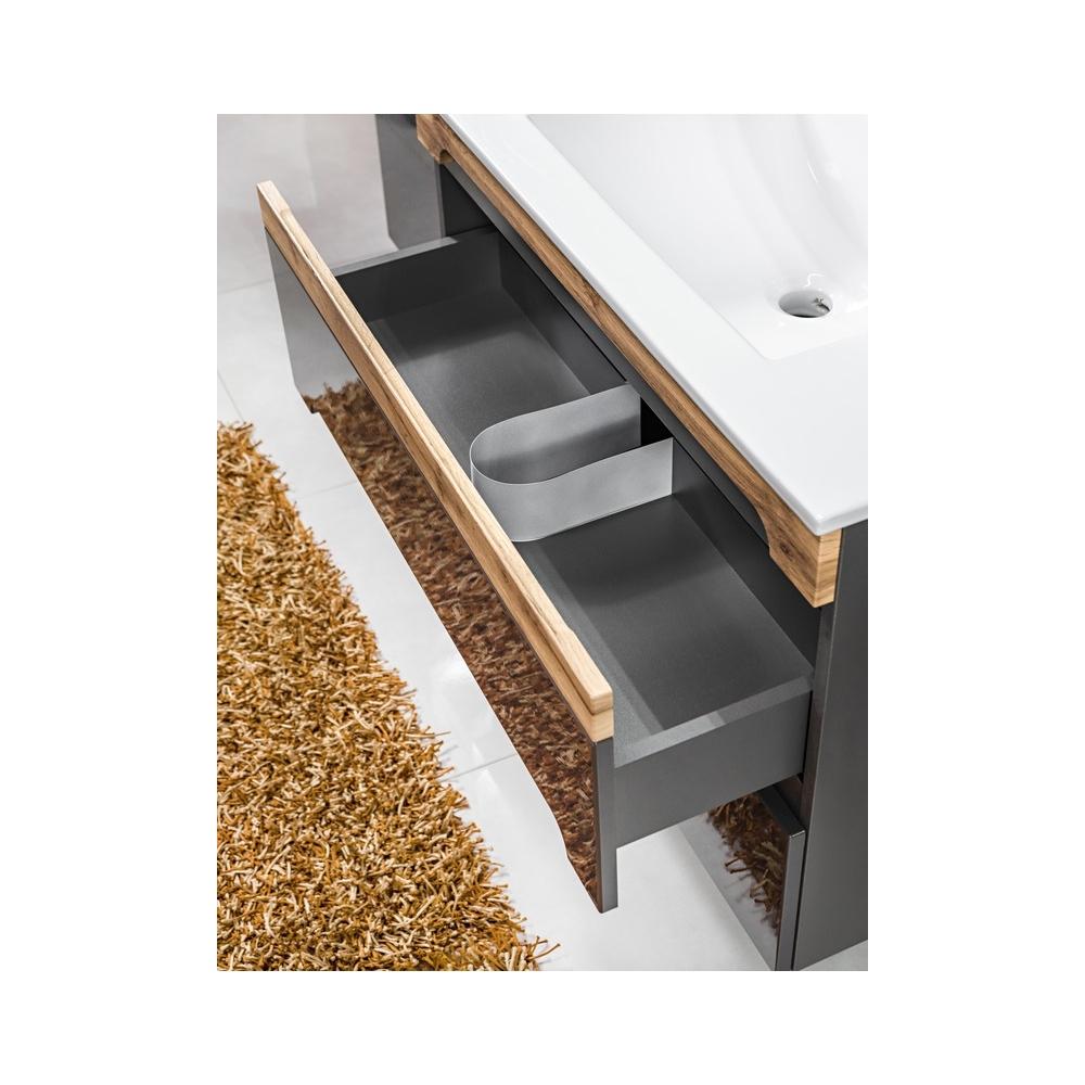 Vonios spintelė su praustuvu 822 NEVADA GREY