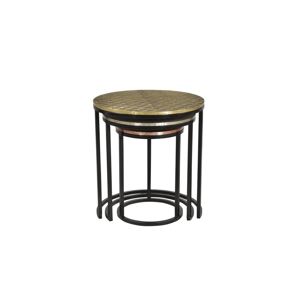 Modernaus dizaino staliukų komplektas, apvalių staliukų komplektas