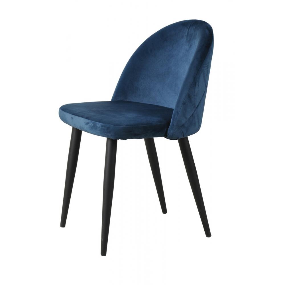 Stilinga kėdė, veliūrinio audinio, metalinėmis, juodos spalvos kojelėmis