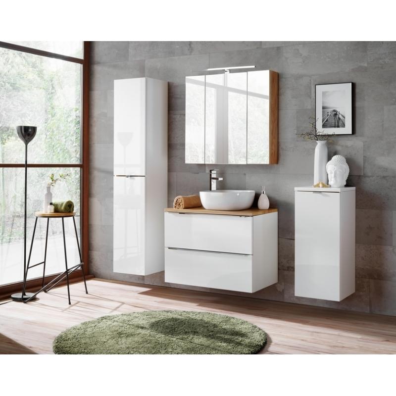 Pakabinama vonios spintelė 800 CAPPRI WHITE