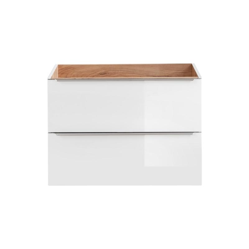 Balta pakabinama vonios spintelė, šiuolaikinio stiliaus