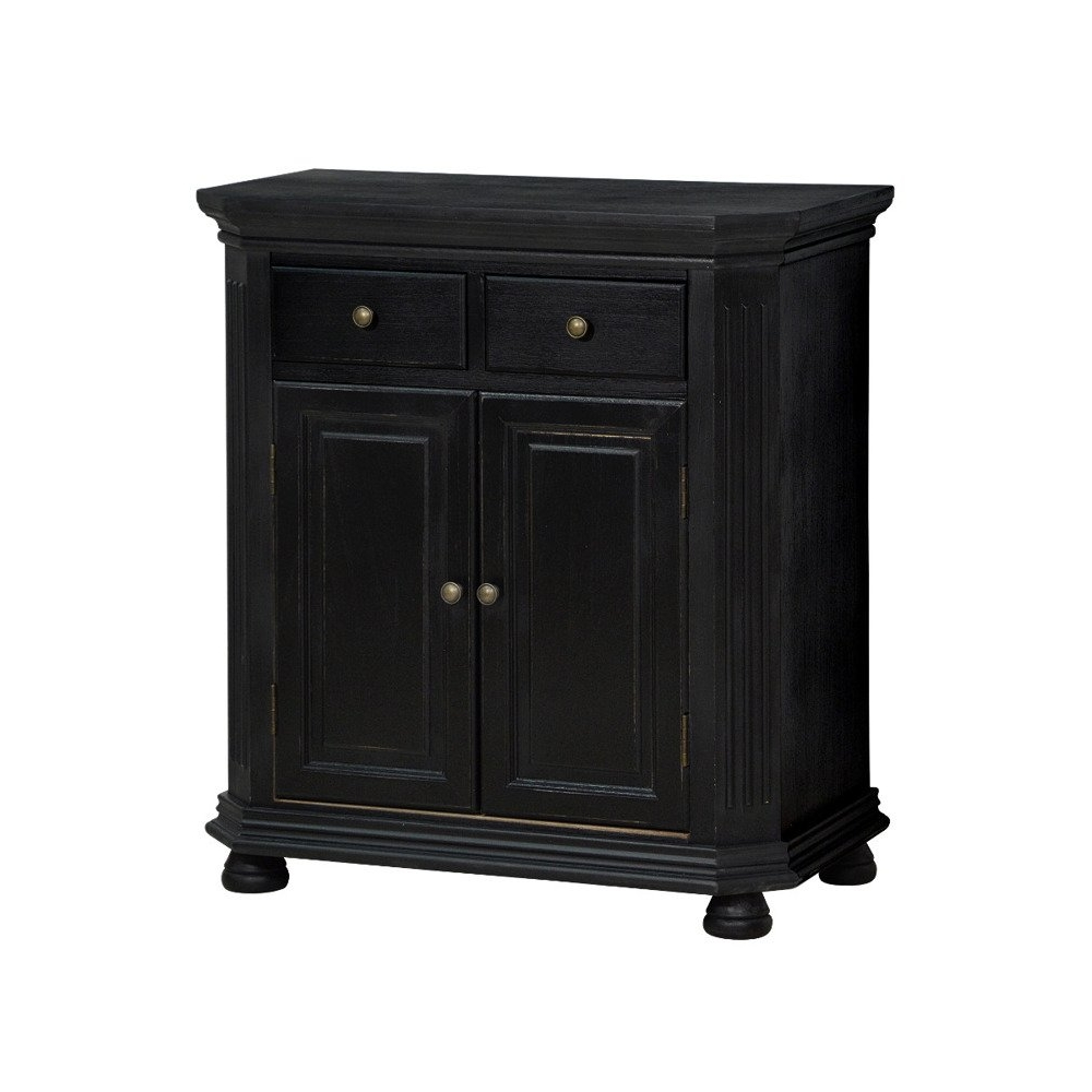 CESANO stiliaus spintelė, sendinto stiliaus, juodos spalvos