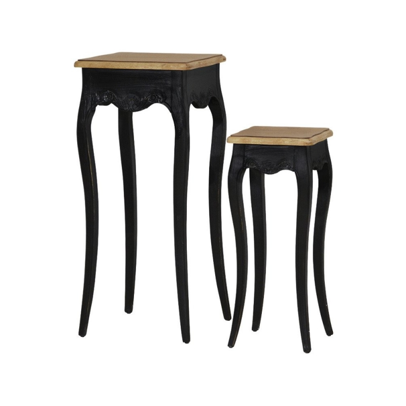 Klasikinio dizaino staliukų komlektas, elegantiškas, provanso stiliaus