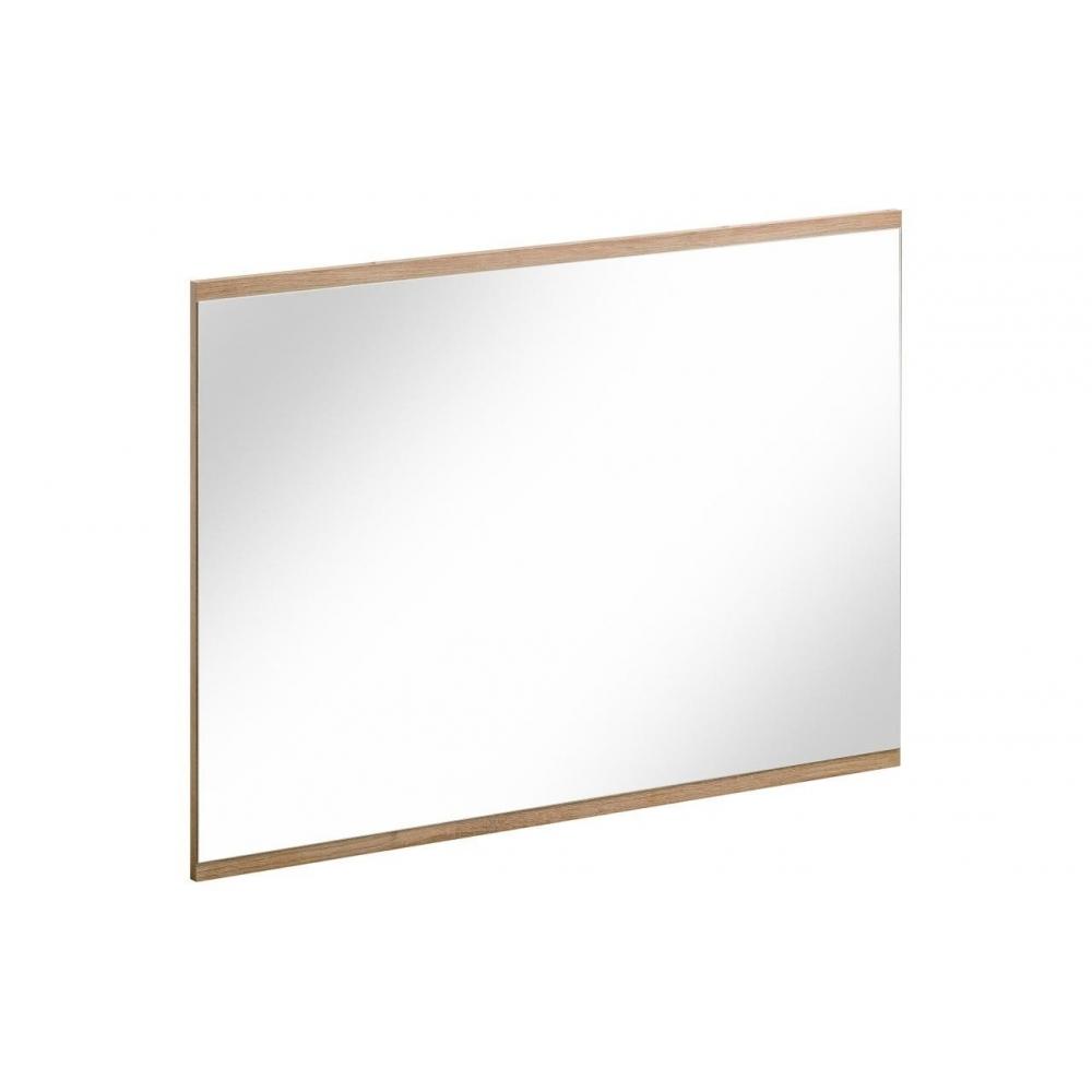 Šiuolaikinio dizaino vonios veidrodis, pakabinamas, ąžuolo imitacijos