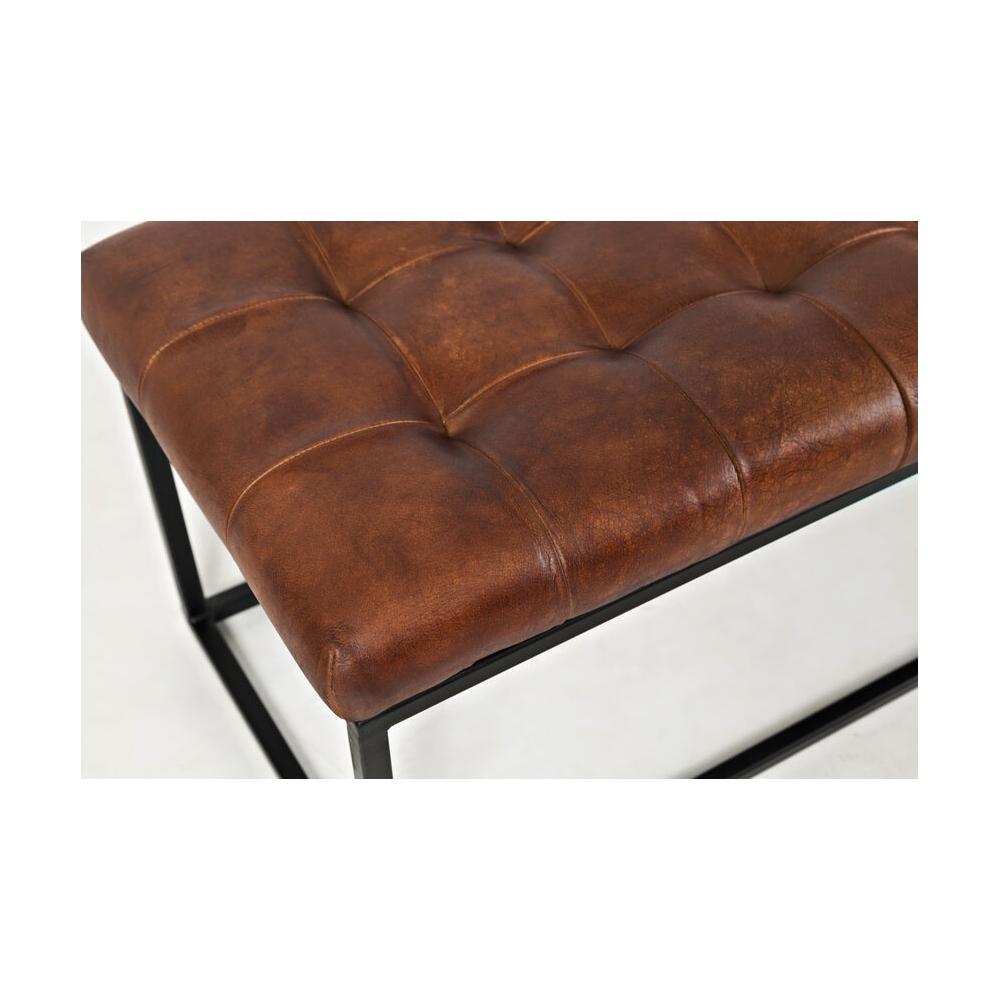 Prabangaus stiliaus minkštasuolis, metalinėm kojomis, rudos spalvos