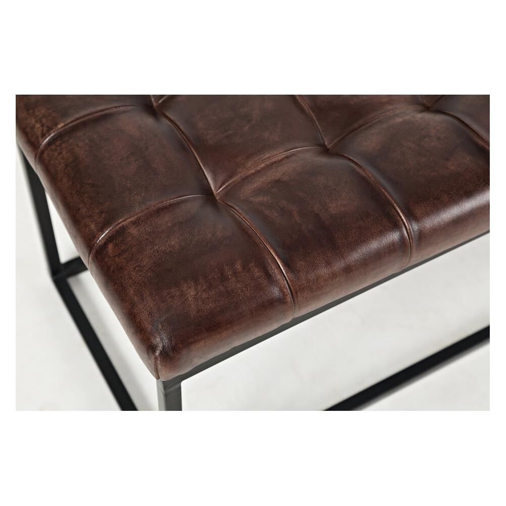 industrinio stiliaus minkštasuolis, patogus, minimalistinis, rudos spalvos