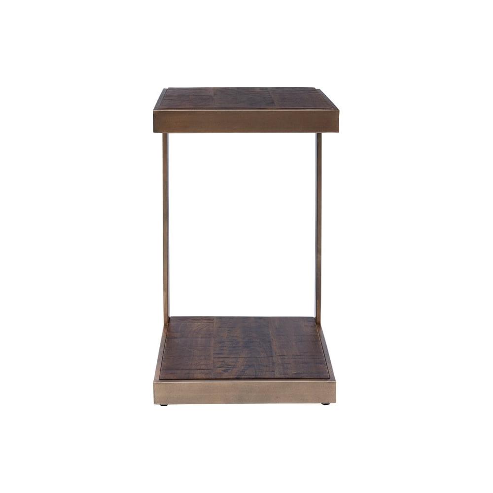Žurnalinis staliukas mediniu stalviršiu, melynos spalvos spalvos, medinis