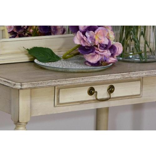 provanso stiliaus komoda, su 2 stalčiais, šviesiai kreminės spalvos