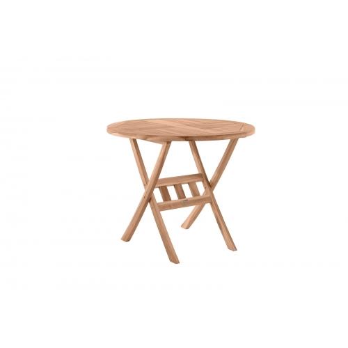 Apvalus 80 cm lauko stalas