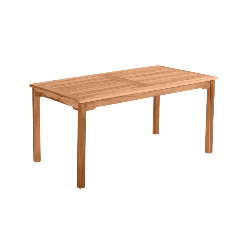 Stačiakampio formos 150 cm lauko stalas, kokybiškas, natūralaus tikmedžio