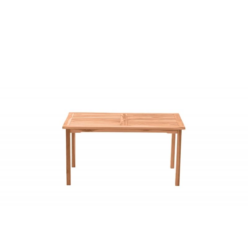 medinis stačiakampinis stalas, rudas, medžio spalvos