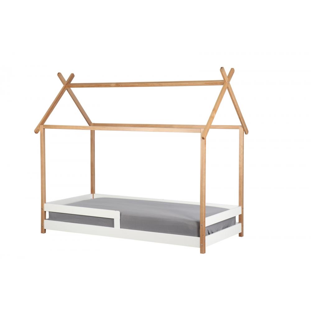 Jauki lova vaikams, Natūralaus medžio, namo formos