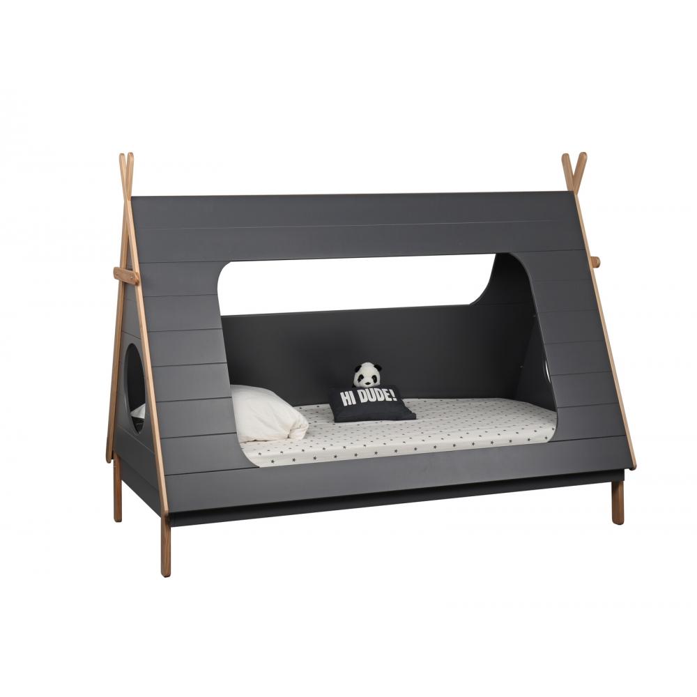 Jauki lova vaikams, Natūralaus medžio, palapinės formos