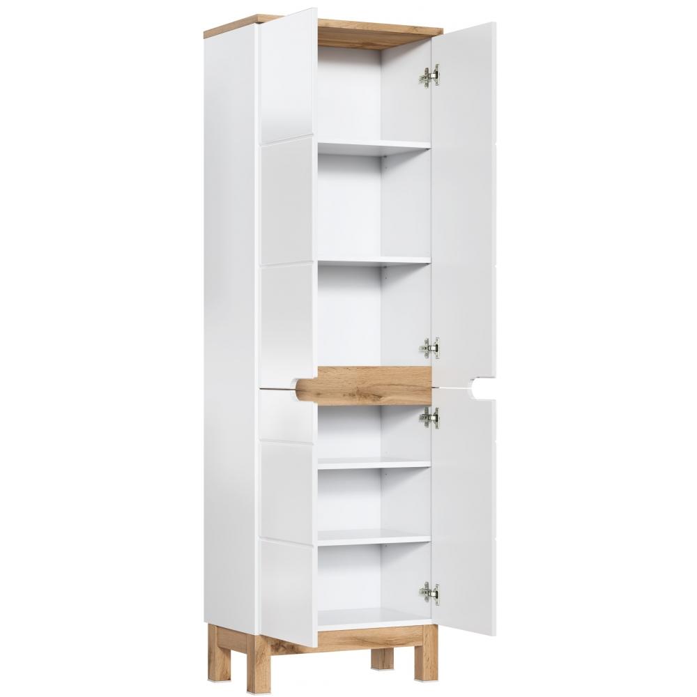 """Skandinaviško stiliaus vonios spintelė, su """"softclose"""" tylaus uždarymo sistema, plati"""