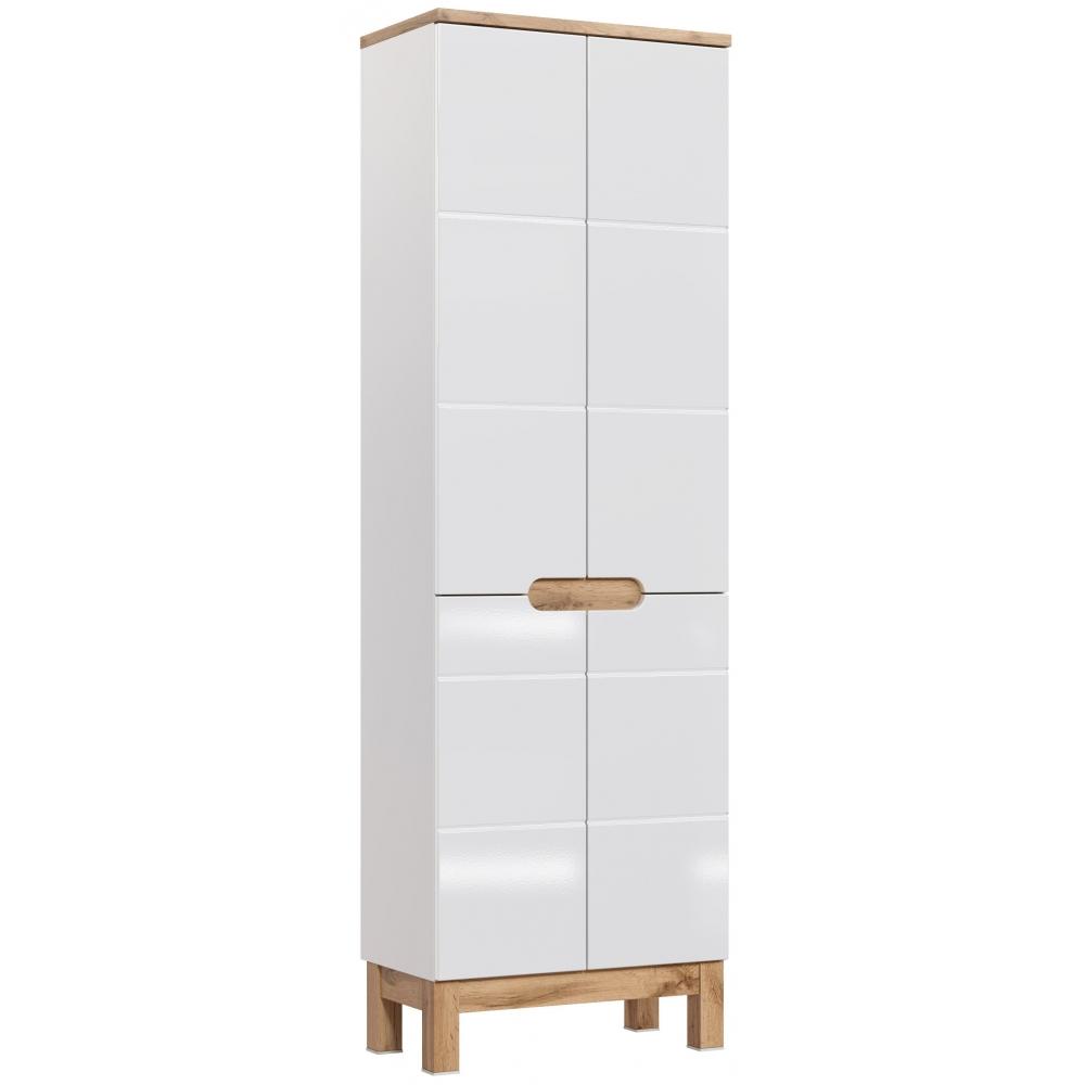 GOTLAND stiliaus vonios spintelė, aukšta, balta
