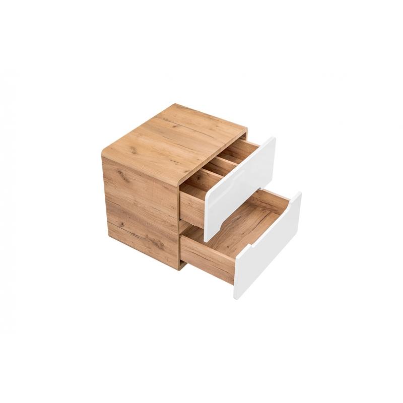 Minimalistinė vonios spintelė, medinė, maža