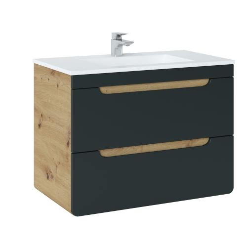 Vonios spintelė su praustuvu 821 ARRAS BLACK
