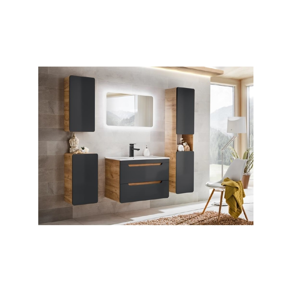 Pakabinama vonios spintelė 831 ARRAS BLACK