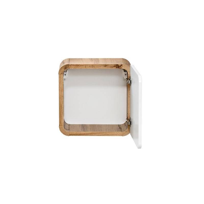 modernaus stiliaus pakabinama vonios spintelė, kokybiška, ąžuolo imitacijos