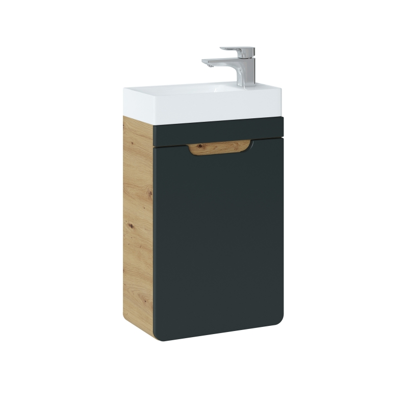 Vonios spintelė su praustuvu 826 ARRAS BLACK