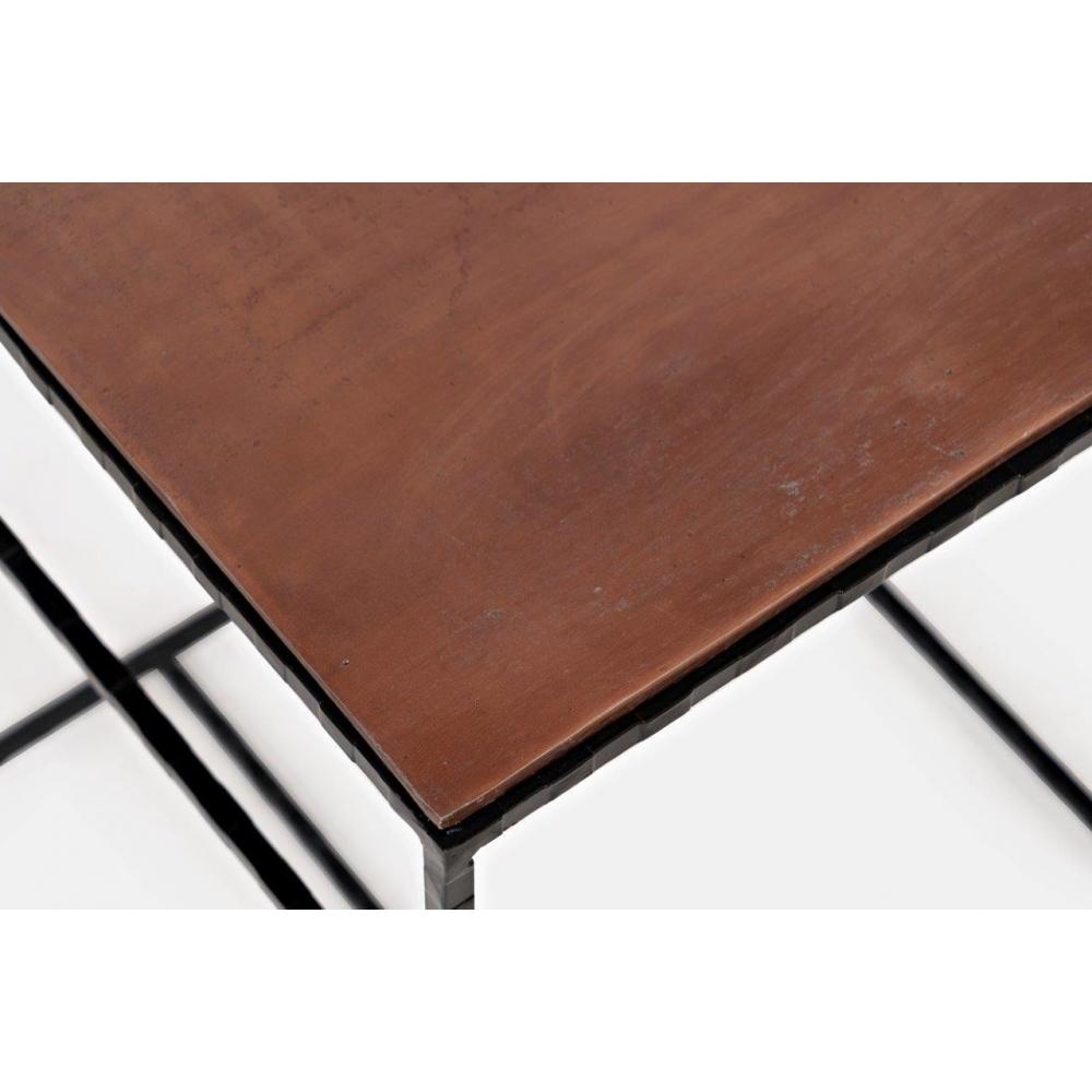 Elegantiškas žurnalinis staliukas, rudos spalvos, medinis