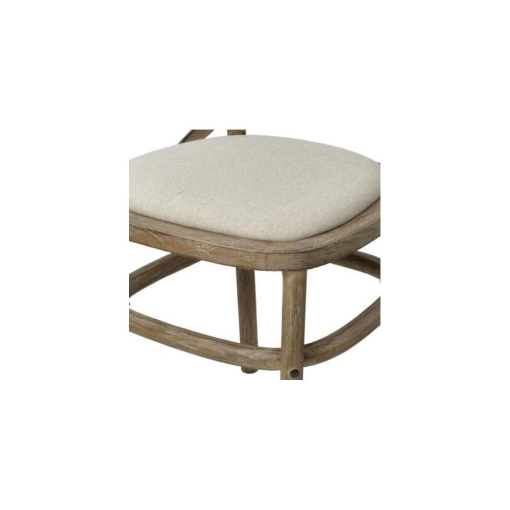 Provanso stiliaus kėdė, kreminės spalvos, kaučiukmedžio