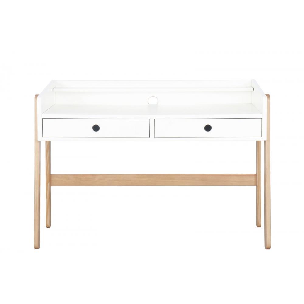 rašomas stalas keičiamu aukščiu, reguliuojamu aukščiu , metaliniais bėgeliais stalčiuose