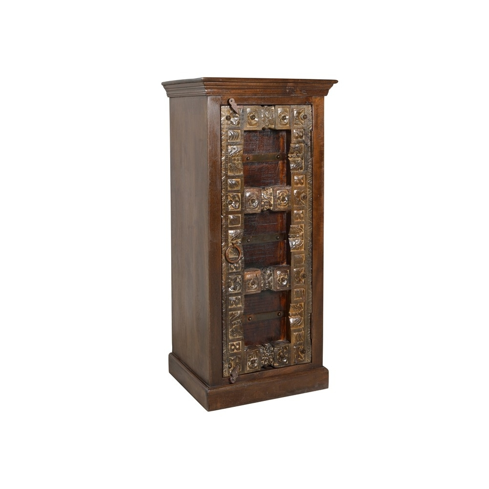 ALMIRAH stiliaus spintelė, rudos spalvos, indiško stiliaus