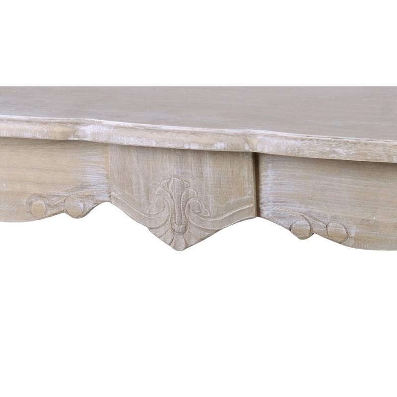 Stalas 160 cm MERANO - provanso stiliaus senovinis medinis stalas 160x80x79 cm.