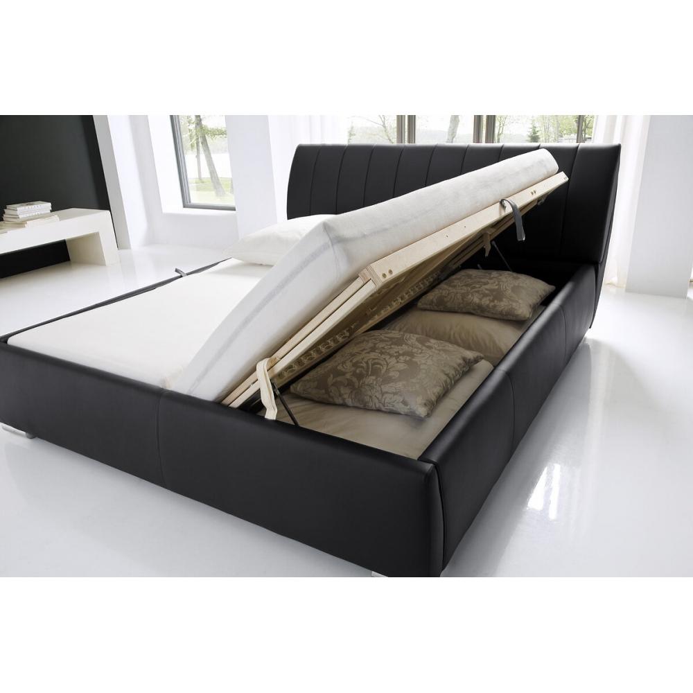 160 cm lova, futuristinė, reguliuojama galvos ir kojų bei grotelių kietumo padėtimi ir metalinėmis chromuotomis kojelėmis