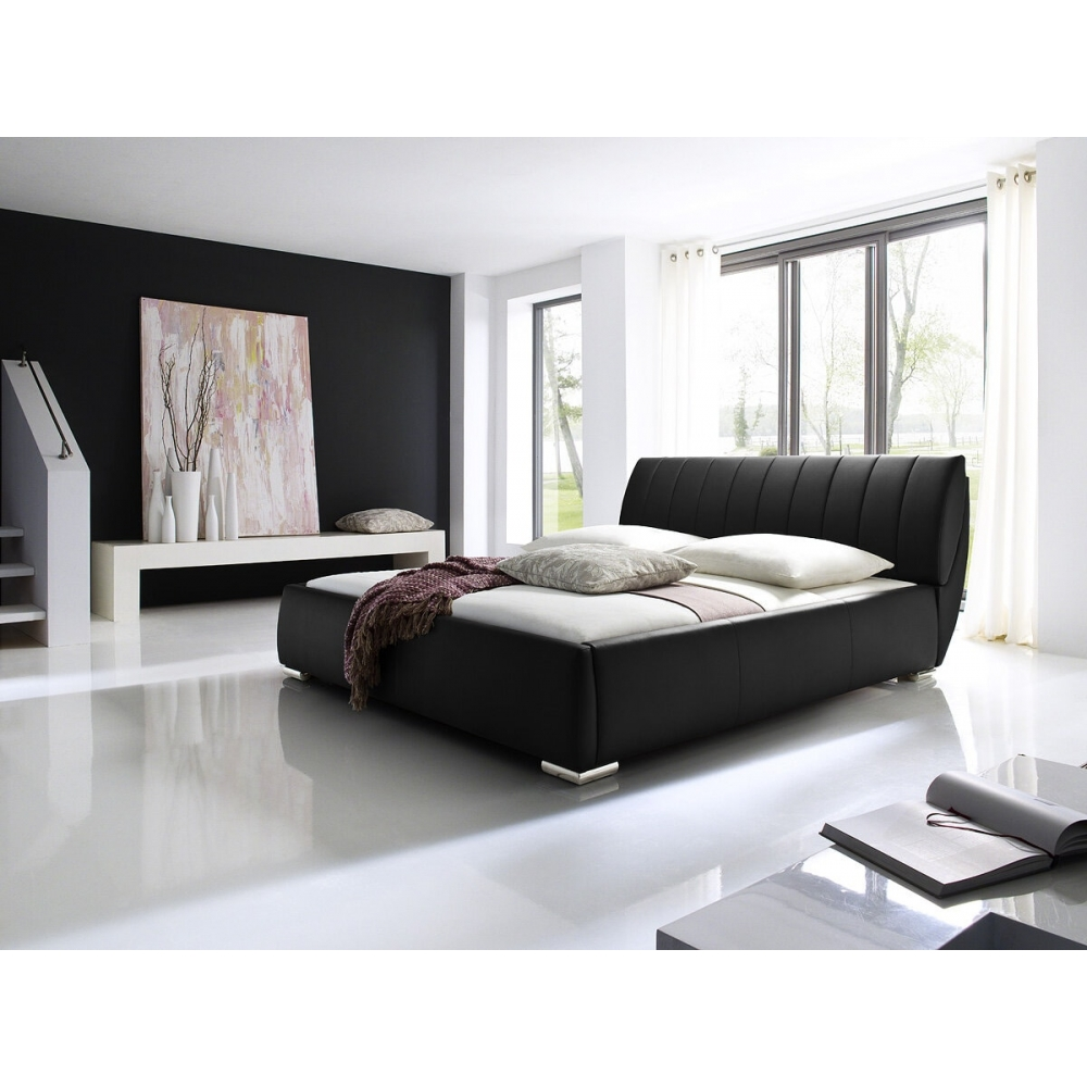 Modernaus dizaino lova, dirbtinės odos, prabangaus stiliaus