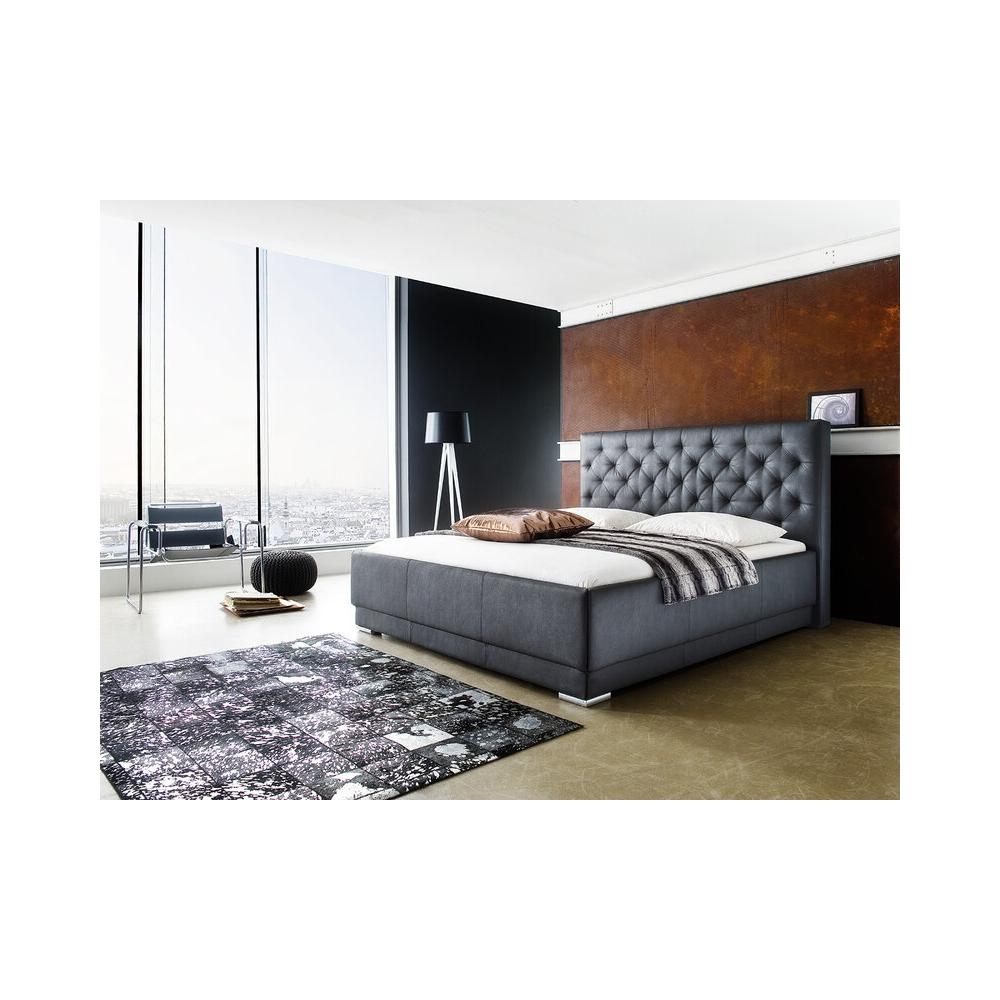 Modernaus dizaino lova, minkšta, prabangios dirbtinės odos