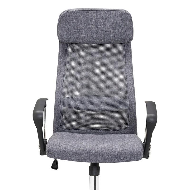 minimalistinio dizaino ofiso kėdė, ergonomiška, pilkos spalvos