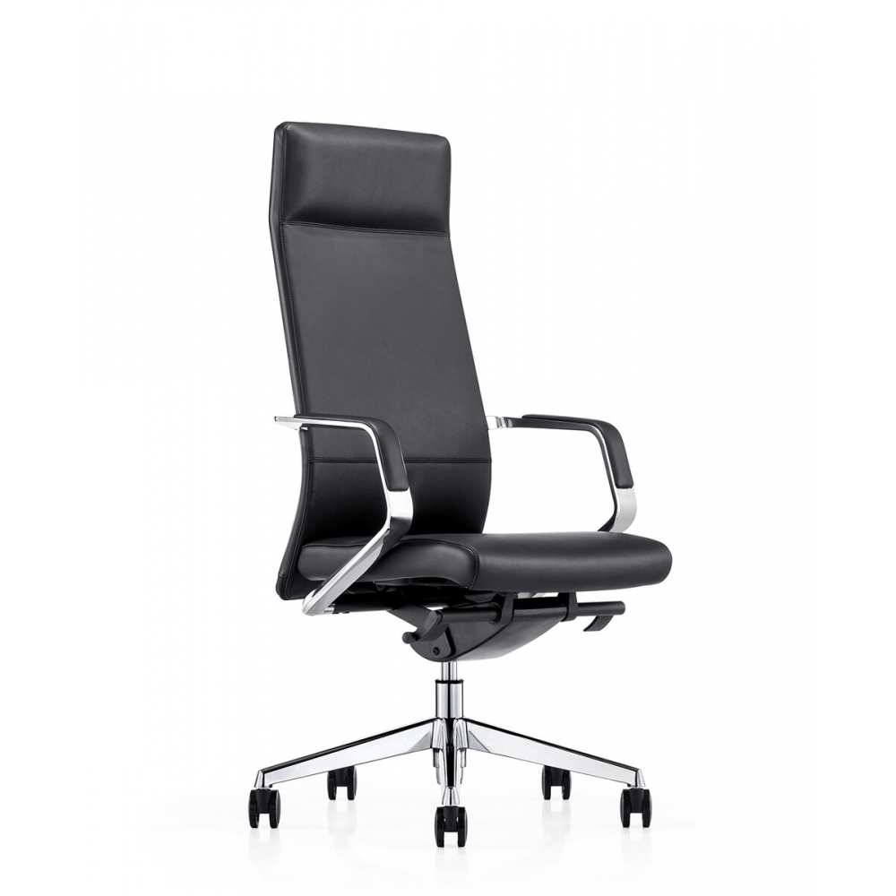modernaus dizaino ofiso kėdė, natūralios odos, su porankiais