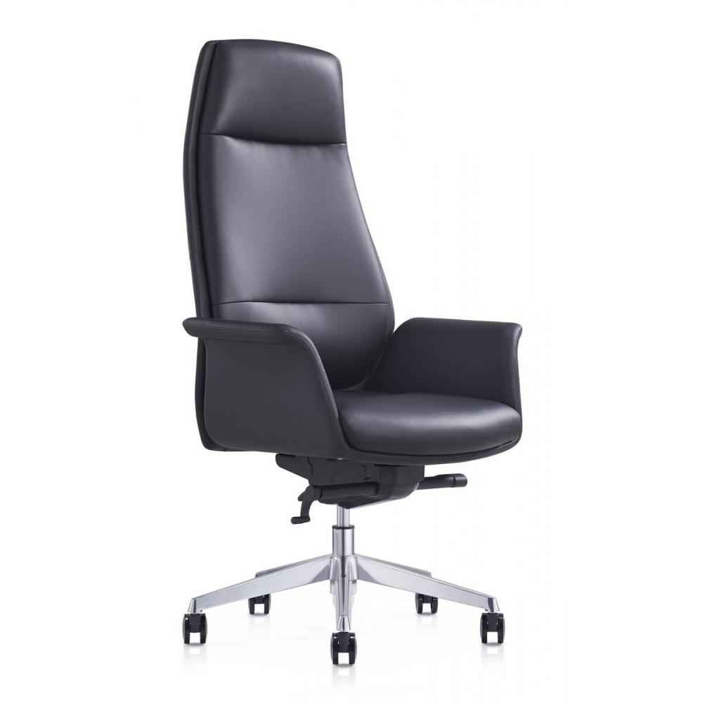 šiuolaikinio dizaino biuro kėdė, aliumininio rėmo, reguliuojamu aukščiu ir atlošu