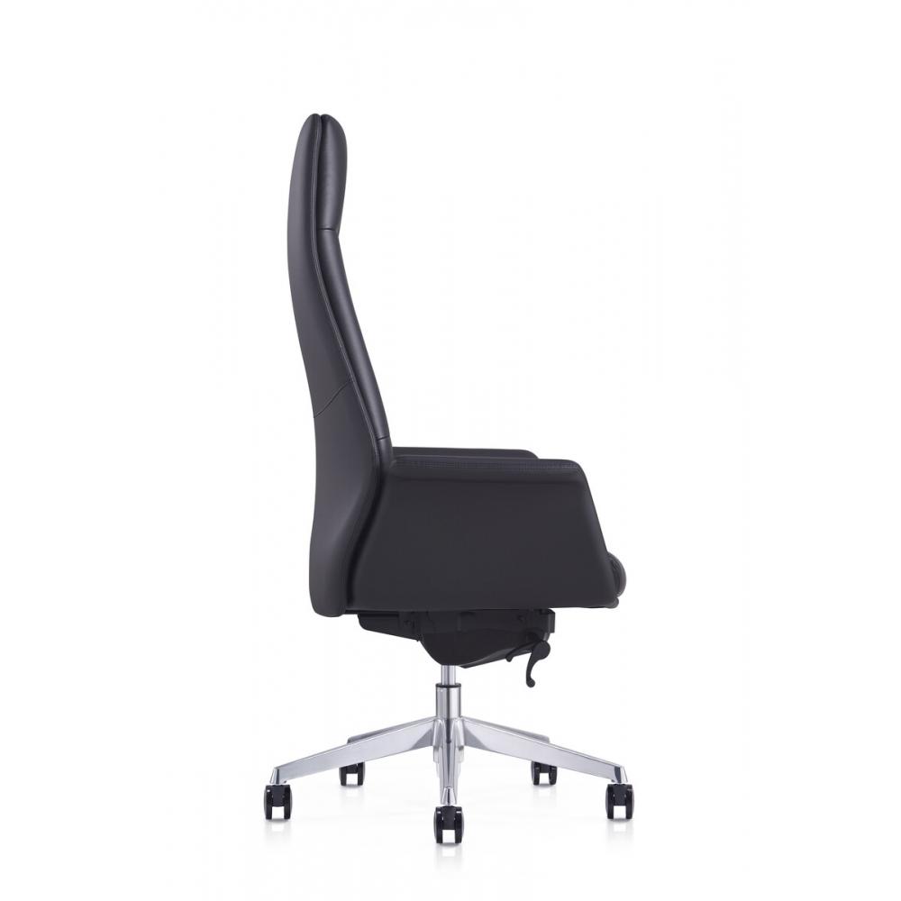 Minimalistinio stiliau ofiso kėdė, juodos spalvos, ergonomiška