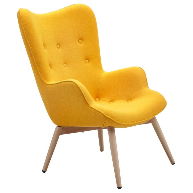 """skandinaviško stiliaus fotelis, su """"chesterfield"""" tipo sagomis, su porankiais ir atlošu"""