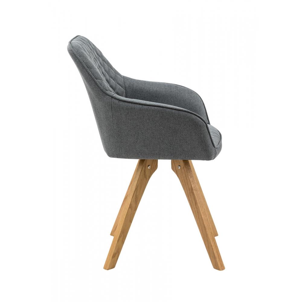 elegatiškas krėslas, medinėm kojelėm, pilkas, oranžinė