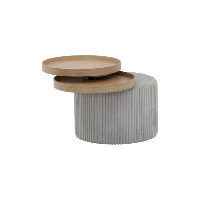 šiuolaikiško dizaino žurnalinis staliukas, pilkas, mažas