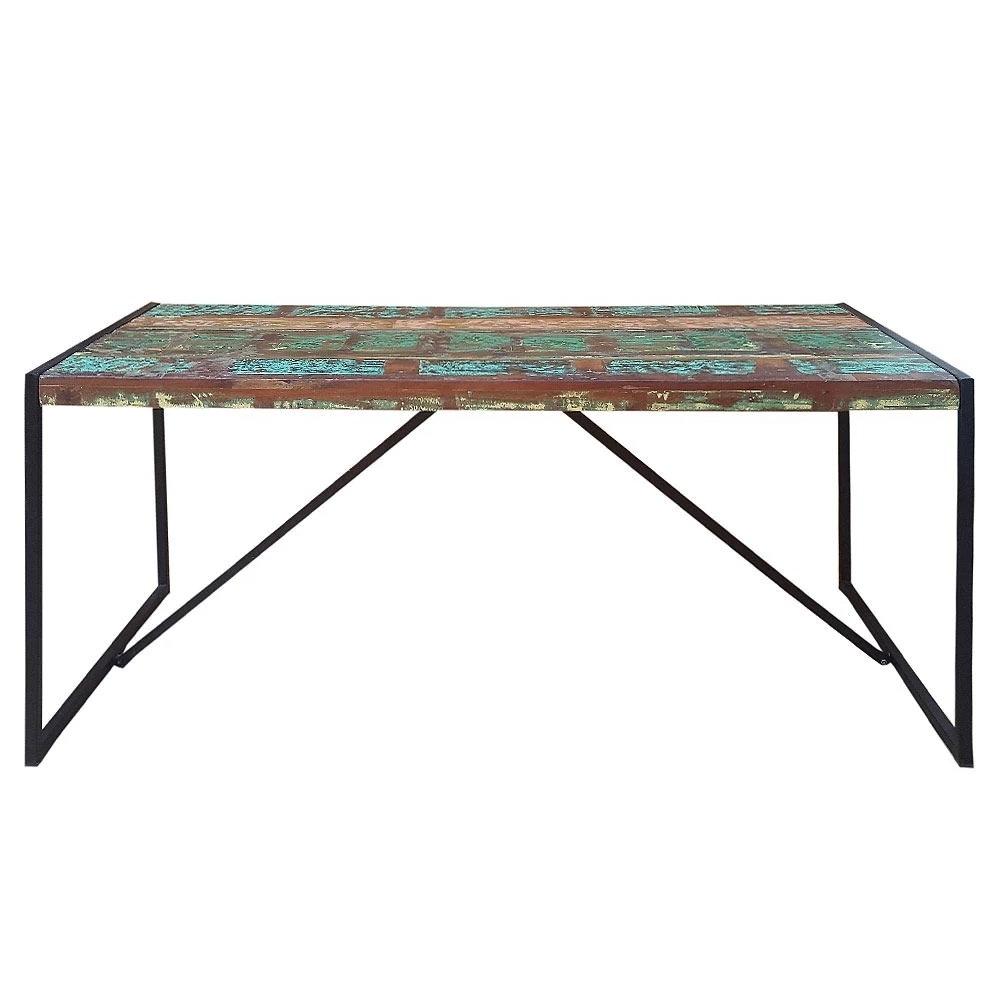 medinis stalas, Industrinio stiliaus, spalvotas