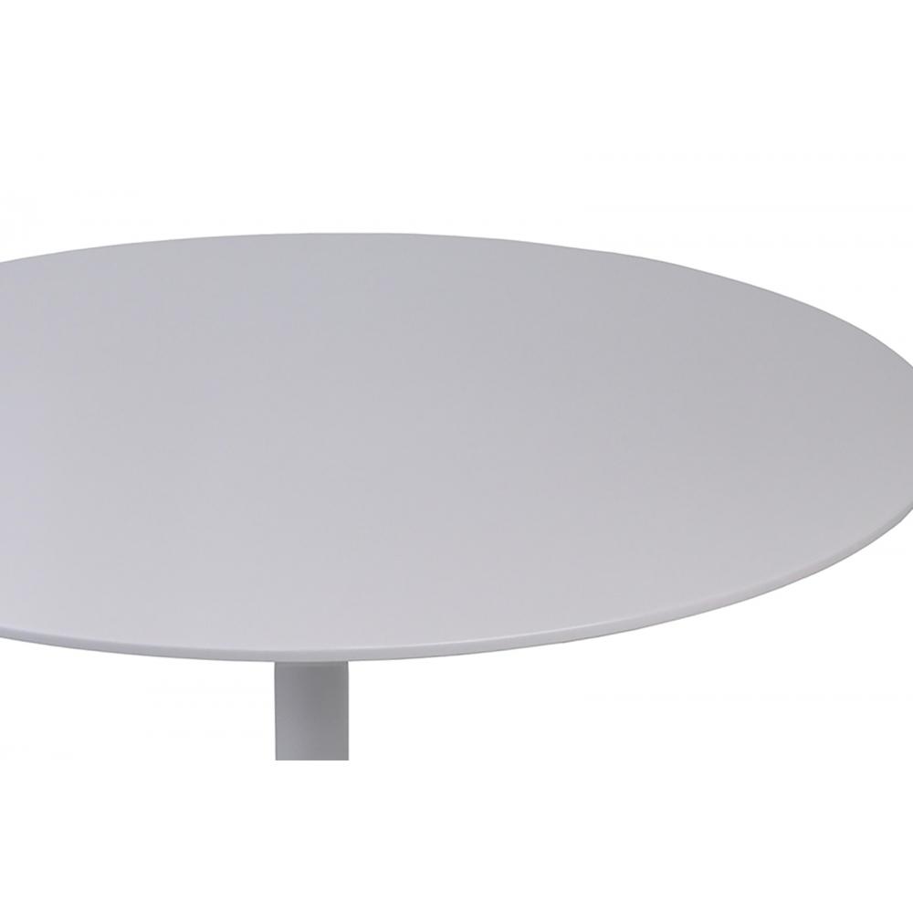 futuristinio stiliaus stalas, baltos spalvos, elegantiškas