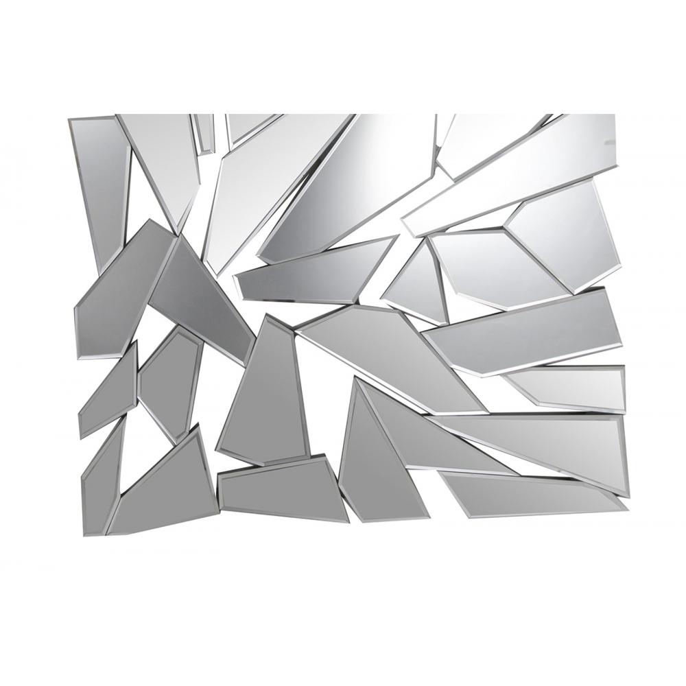 modernaus dizaino veidrodis, sudarytas iš šukių, elegantiškas