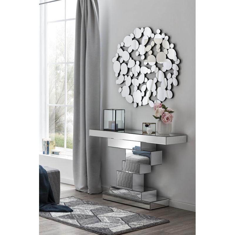 modernaus dizaino veidrodis, sudarytas iš ovalų, elegantiškas