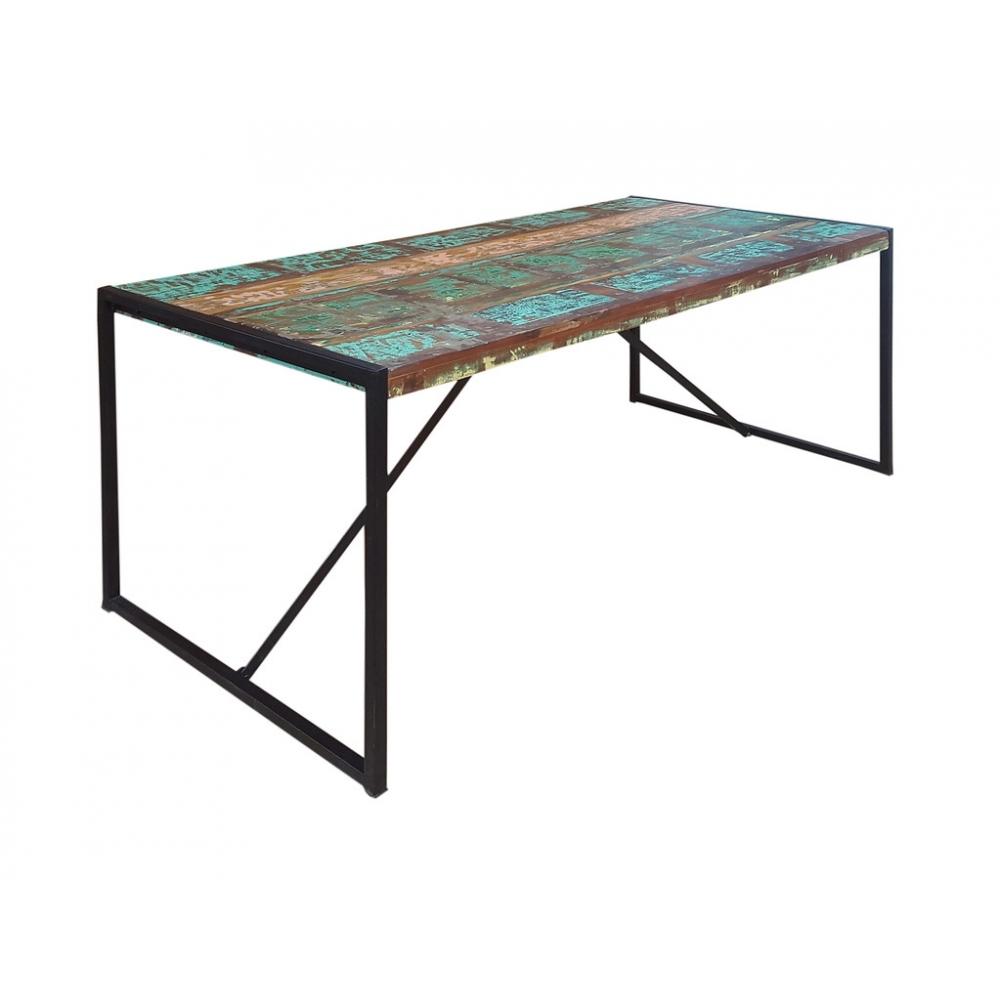 BALI stiliaus stalas, 140cm, spalvotas