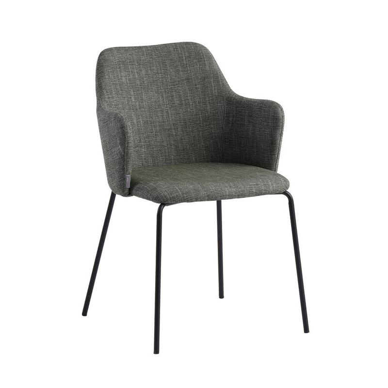 Šiuolaikiška dizaino kėdė, elegantiško stiliaus, audiniu aptraukta