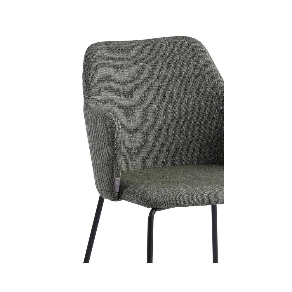 moderni kėdė, su porankiaism, juodomis metalinėmis kojelėmis