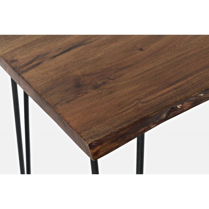 Baro stalas su metalinėmis kojelėmis, minimalistinis, stilingas