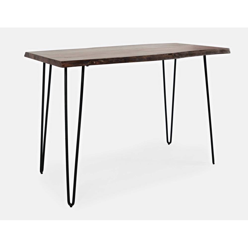 AVELLINO stiliaus baro stalas, 132 cm, rankų darbo