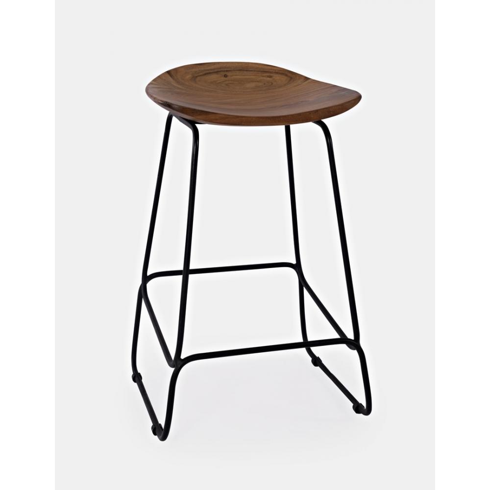 AVELLINO baro kedė, natūralaus medžio, metalinėmis kojomis