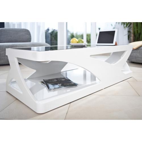 juodai baltas žurnalinis staliukas, modernaus dizaino, prabangaus stiliaus
